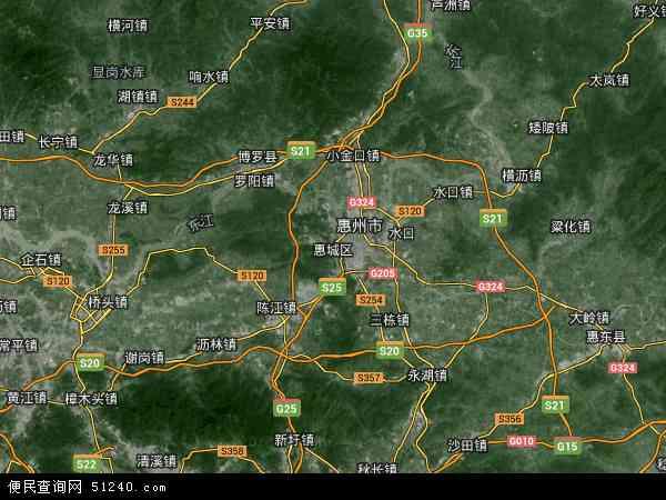 惠城区地图 - 惠城区卫星地图 - 惠城区高清航拍