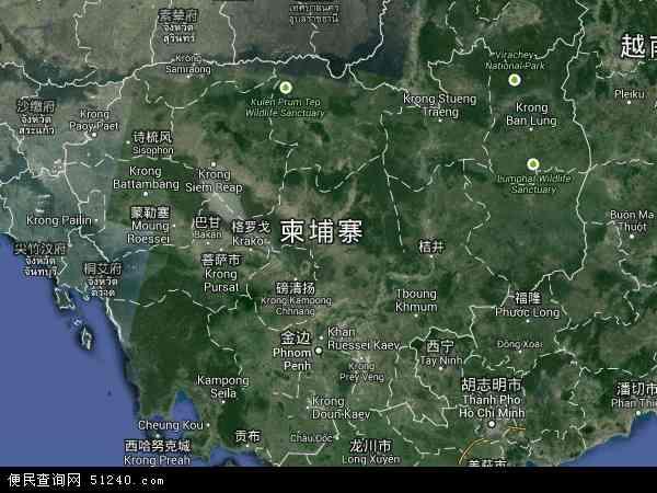 柬埔寨卫星地图 - 柬埔寨高清卫星地图 - 柬埔寨高清航拍地图 - 2017