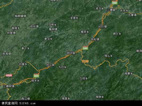 剑河县地图 - 剑河县卫星地图