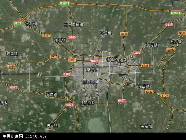 济宁市地图 - 济宁市卫星地图