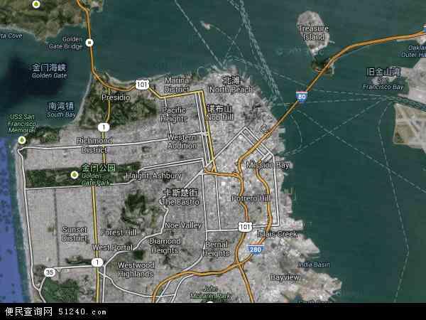 美国高清卫星地图_旧金山地图 - 旧金山卫星地图 - 旧金山高清航拍地图