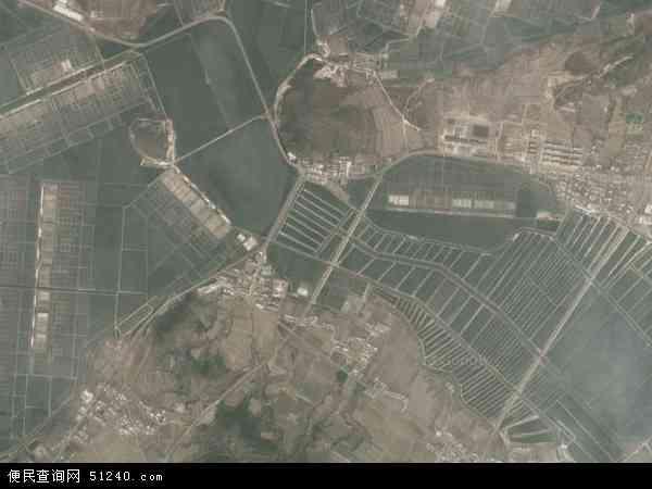 中国辽宁省大连市瓦房店市交流岛地图(卫星地图)