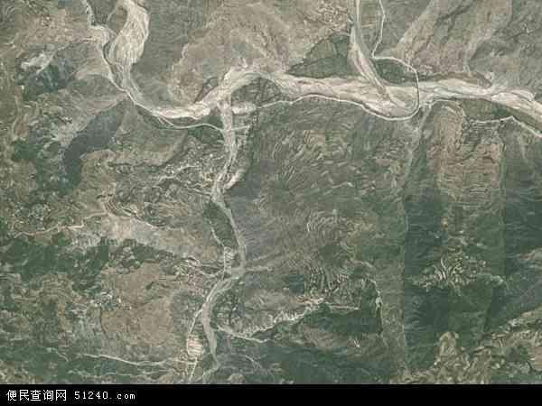 中国甘肃省陇南市礼县雷坝乡地图(卫星地图)