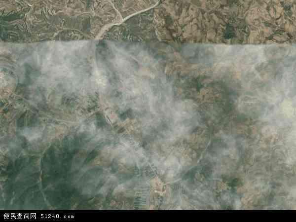中国甘肃省陇南市礼县罗坝乡地图(卫星地图)