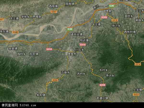 灵宝市地图 - 灵宝市卫星地图