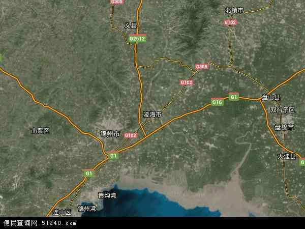 凌海市地图- 凌海市卫星地图- 凌...