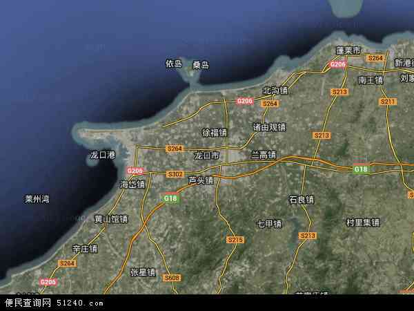 龙口市地图 - 龙口市卫星地图