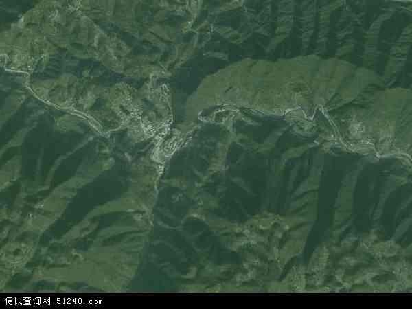 中国湖北省襄阳市南漳县李庙镇地图(卫星地图)