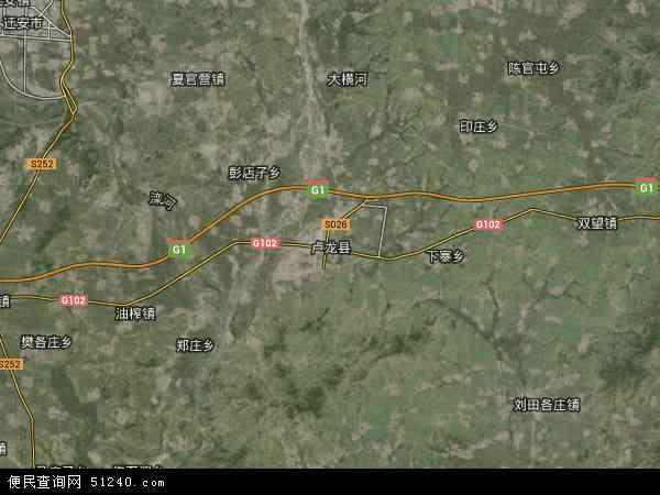 中国河北省秦皇岛市卢龙县地图(卫星地图)
