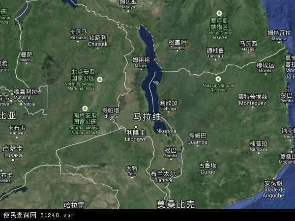 2016马拉维卫星地图,马拉维北斗卫星地图2017,部分地区可以实现高清