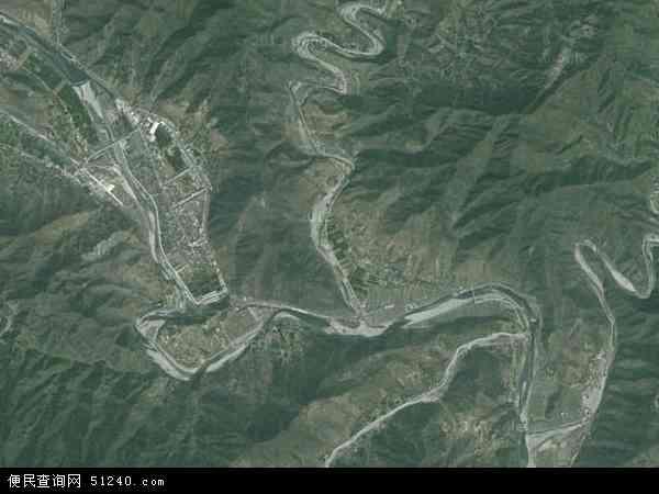 中国河南省南阳市西峡县米坪镇地图(卫星地图)