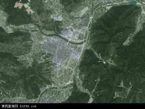 中国浙江省台州市黄岩区宁溪镇地图(卫星地图)
