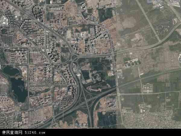 中国陕西省西安市雁塔区曲江地图(卫星地图)