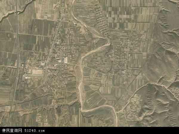 中国宁夏回族自治区中卫市海原县七营镇地图(卫星地图)图片