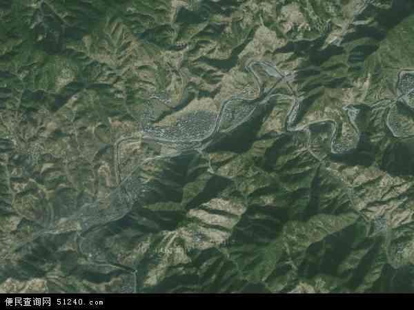 中国安徽省黄山市歙县杞梓里镇地图(卫星地图)