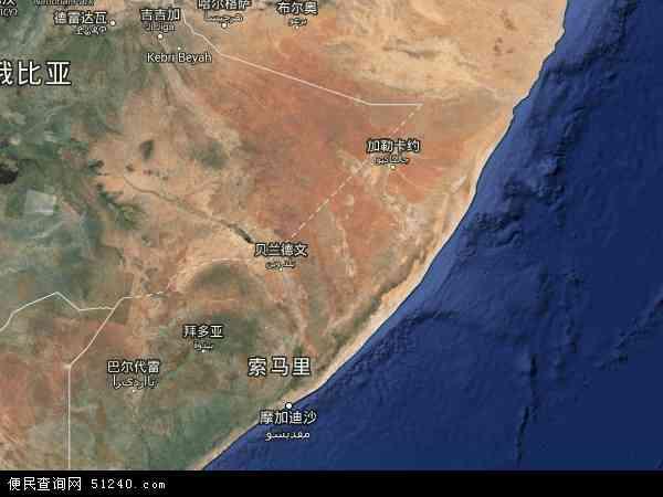 索马里地图(卫星地图)