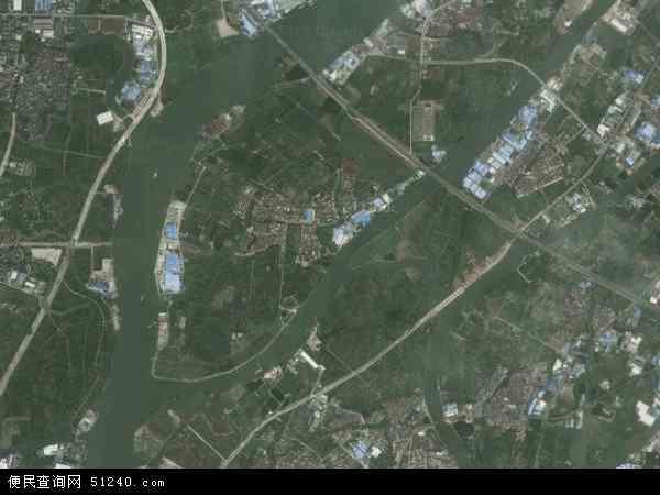 中国广东省茂名市信宜市丁堡镇地图(卫星地图