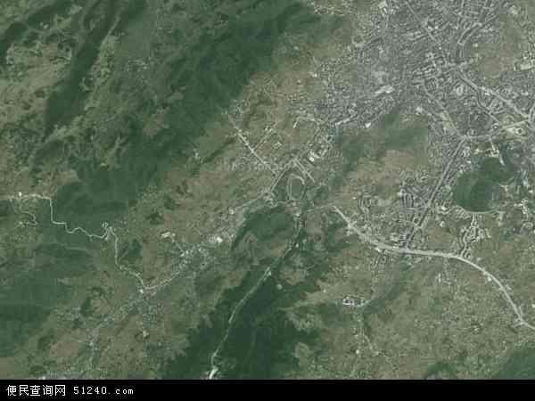 中国贵州省毕节市七星关区三板桥地图(卫星地图)