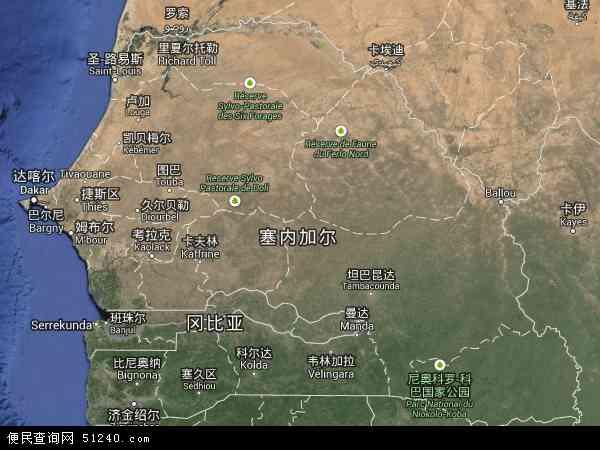 塞内加尔卫星地图 - 塞内加尔高清卫星地图 - 塞内加尔高清航拍地图 - 2016年塞内加尔高清卫星地图