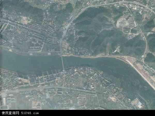 中国江西省上饶市信州区水南地图(卫星地图)