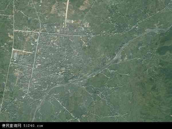 中国湖南省永州市蓝山县塔峰镇地图(卫星地图)