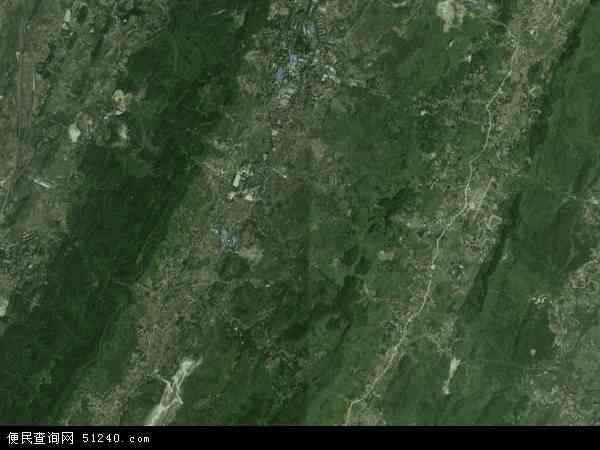 中国重庆市北碚区天府镇地图(卫星地图)