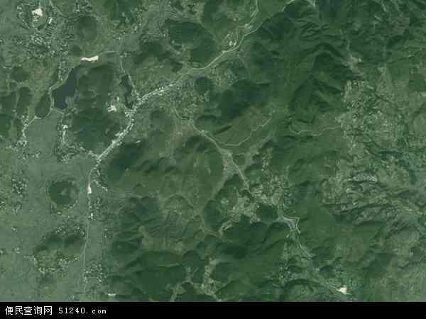中国贵州省遵义市汇川区团泽镇地图(卫星地图)