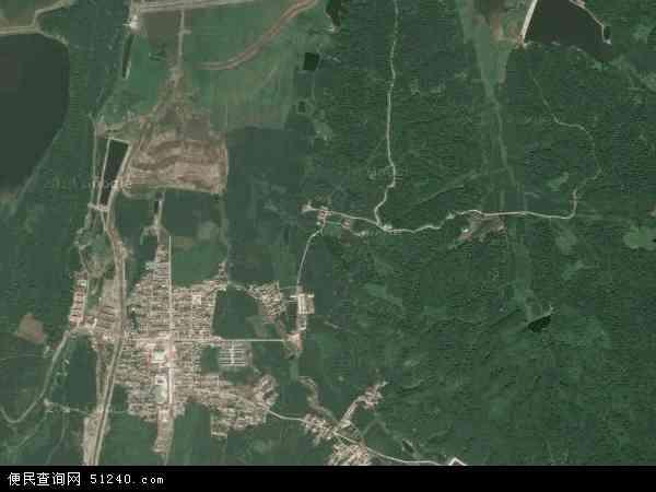 中国吉林省吉林市丰满区旺起镇地图(卫星地图)