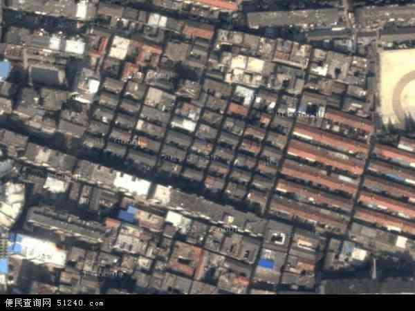中国安徽省阜阳市颍州区文峰地图(卫星地图)