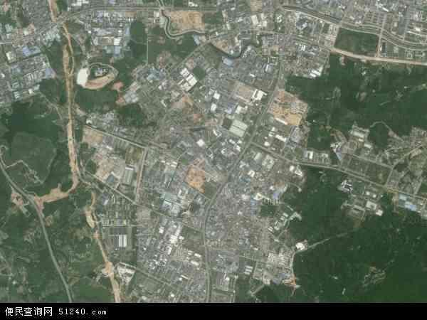 中国广东省东莞市清溪镇谢坑村地图(卫星地图)