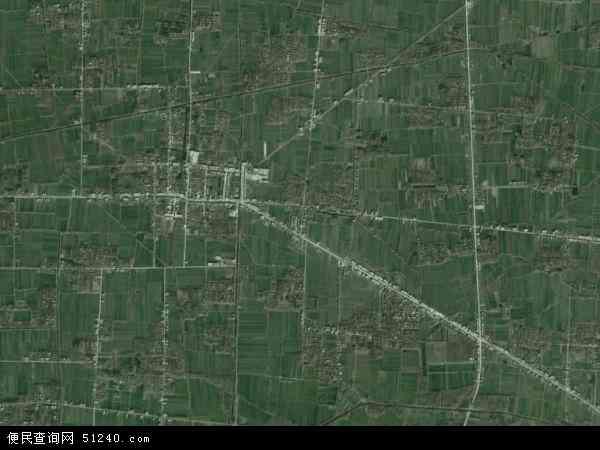 中国安徽省阜阳市阜南县新村镇地图(卫星地图)