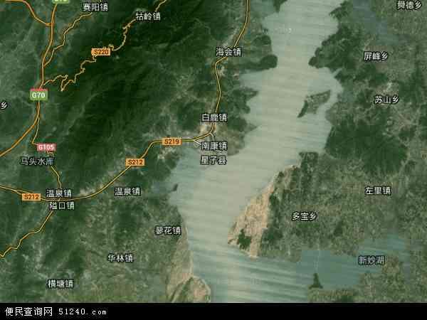 中国江西省九江市星子县地图(卫星地图)