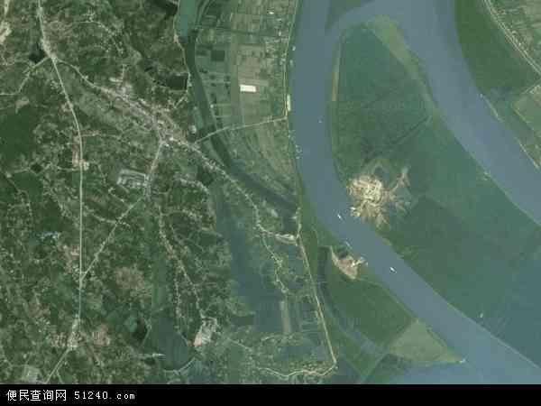 中国湖南省益阳市沅江市新湾镇地图(卫星地图)