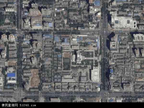 中国陕西省西安市雁塔区小寨路地图(卫星地图)