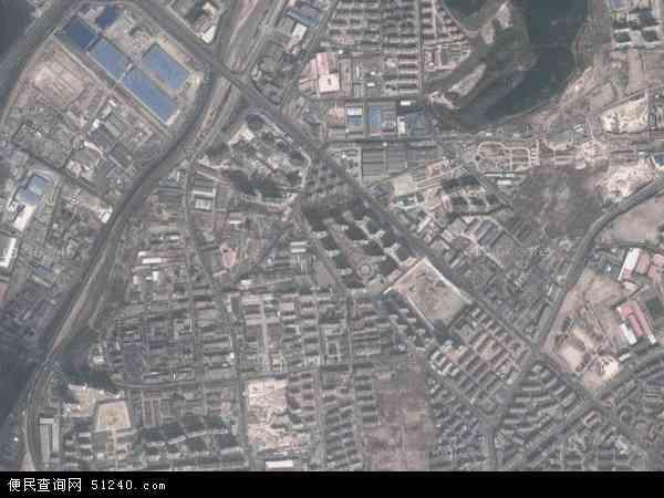 中国山东省青岛市市北区兴隆路地图(卫星地图)