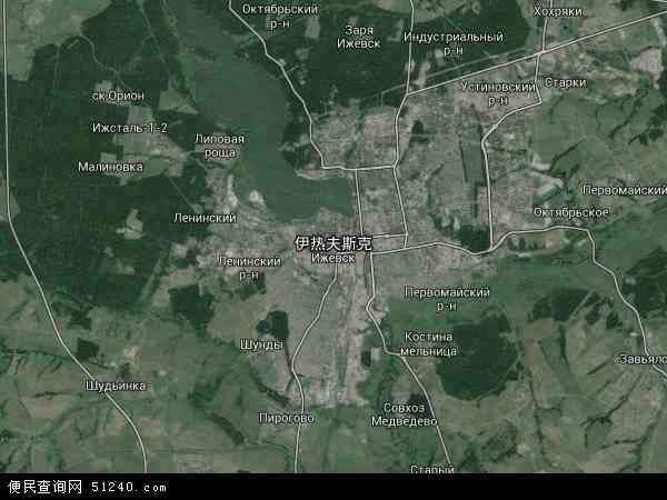 2015伊热夫斯克卫星地图