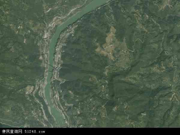 中国陕西省安康市汉滨区瀛湖镇地图(卫星地图)