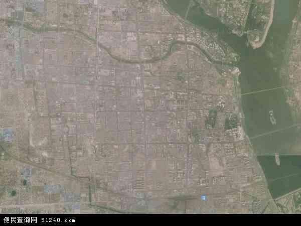 中国山东省临沂市兰山区银雀山地图(卫星地图)图片