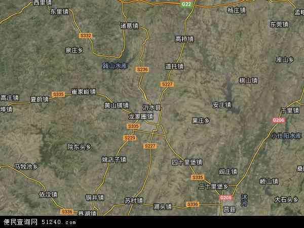 沂水县地图 - 沂水县卫星地图