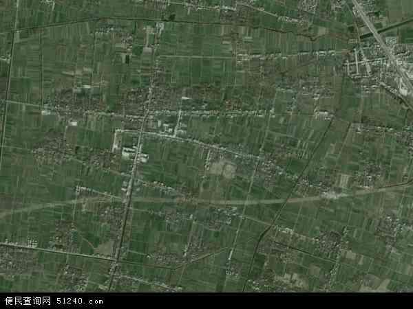 中国安徽省阜阳市颍州区袁集镇地图(卫星地图)