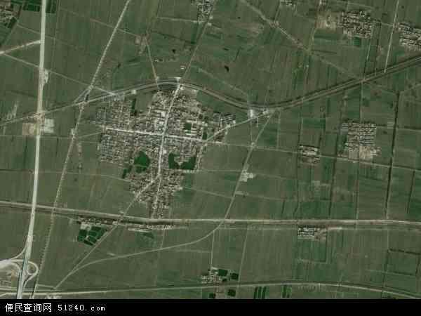 中国河南省新乡市原阳县原武镇地图(卫星地图)
