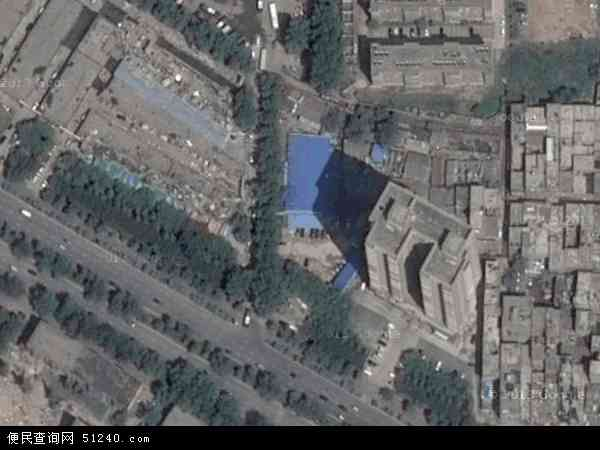 中国陕西省西安市莲湖区枣园地图(卫星地图)