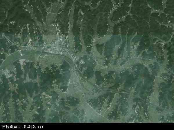 中国湖南省株洲市芦淞区白关镇地图(卫星地图)