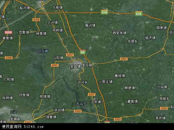 扬州地图全图卫星地图高清2017_扬州区域划分图