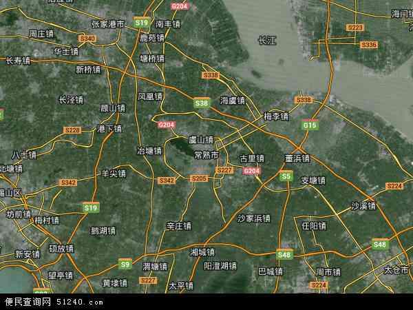 常熟市地图 常熟市卫星地图 常熟市高清航拍地图 常熟市高清卫星地图 图片