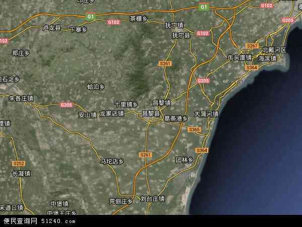 昌黎县地图 - 昌黎县卫星地图