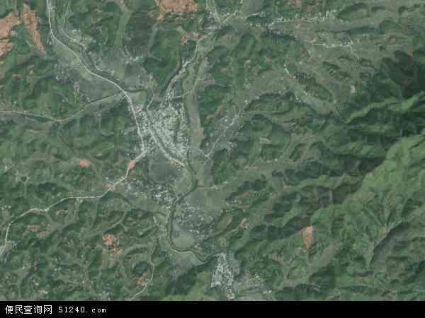 中国广东省河源市龙川县车田镇地图(卫星地图)