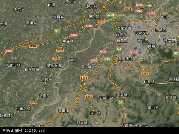 长清区高清卫星地图 长清区2016年卫星地图 中国山东省济南市长清