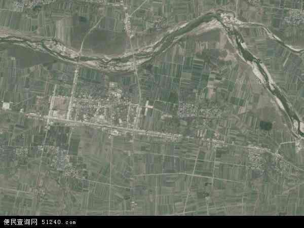 中国河南省南阳市唐河县大河屯镇地图(卫星地图)
