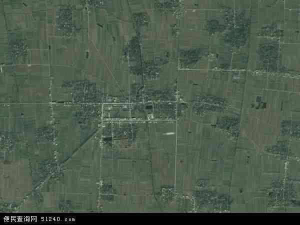 中国安徽省阜阳市界首市大黄镇地图(卫星地图)